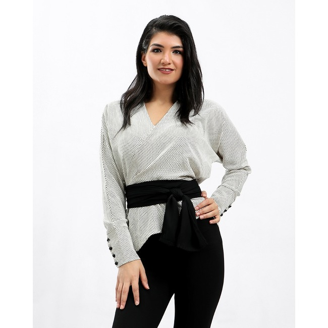 Blouse with Waistband