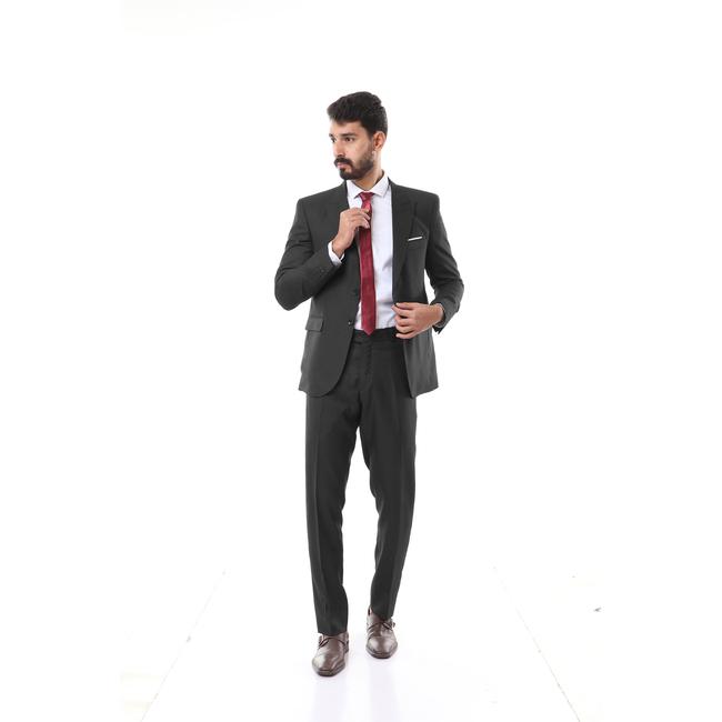 Dark Grey Dots Suit